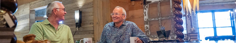 Jim DeWitt talking with a customer