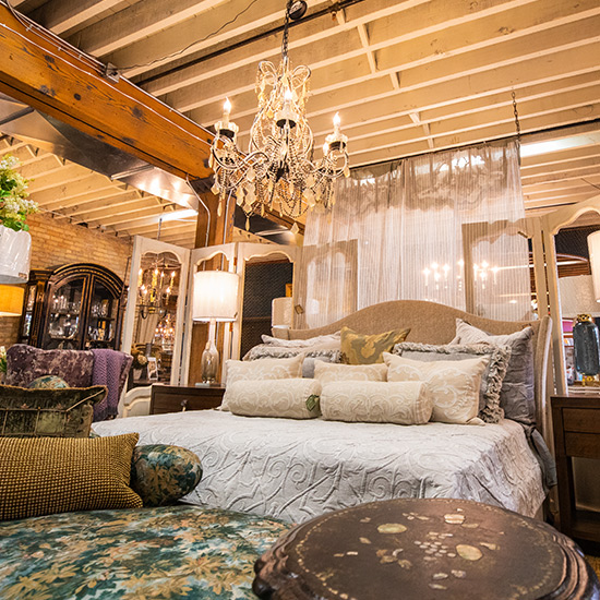 Classically elegant French bedroom