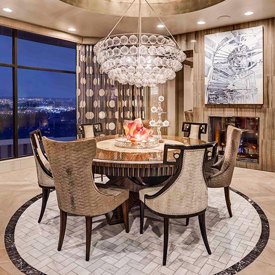 Dining room designed by DeWitt